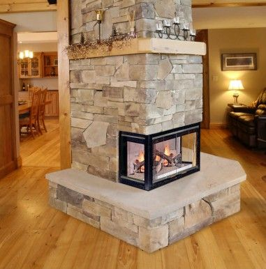 Bay 40 wood fireplace