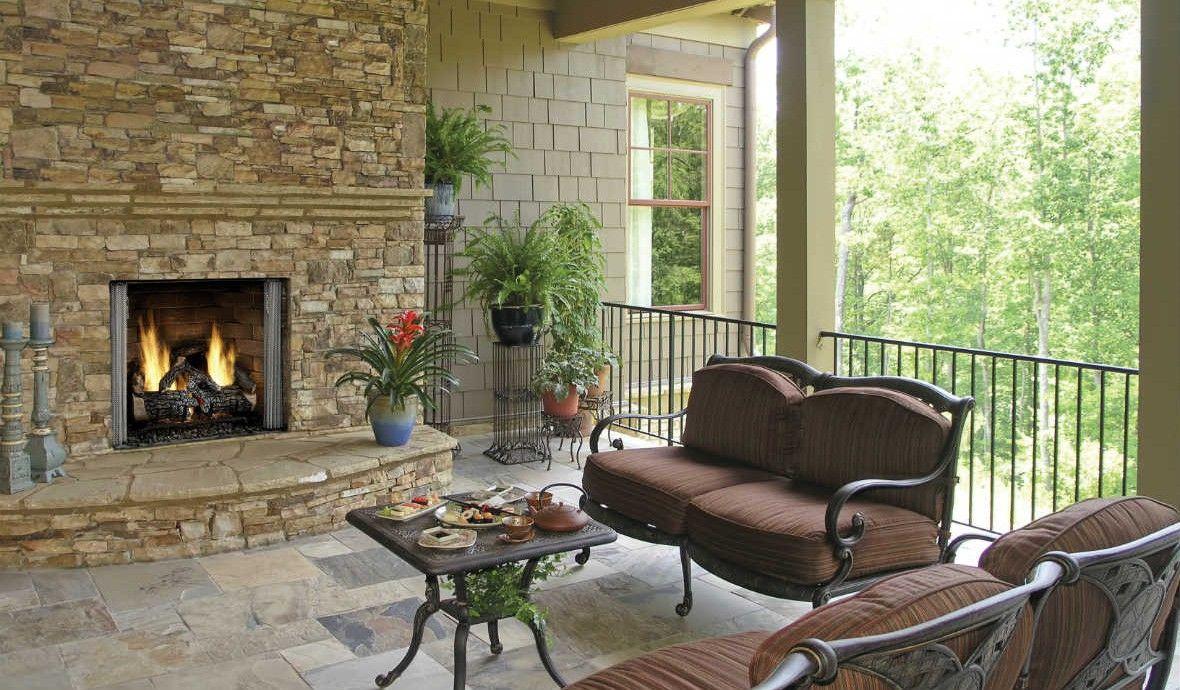 Carolina 36 outdoor gas fireplace
