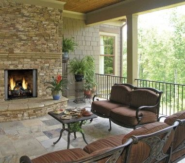 Carolina 36 outdoor gas fireplace