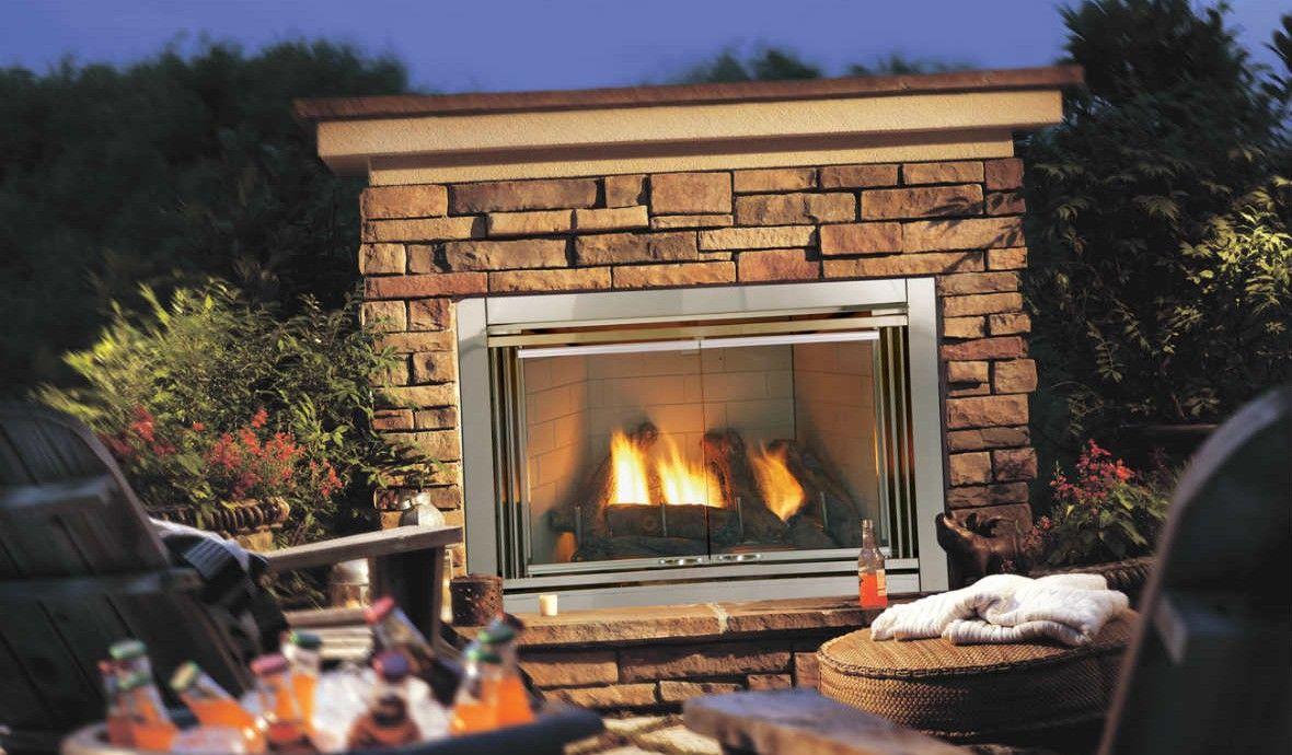 Dakota 42 Outdoor Gas Fireplace