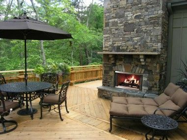 Montana 36 wood outdoor fireplace