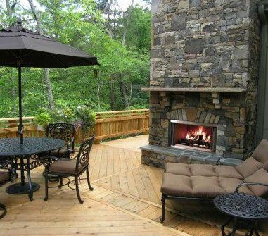 Montana 36 wood outdoor fireplace