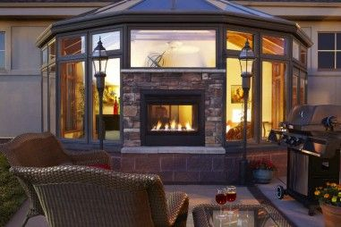 Twilight Modern Indoor Outdoor Gas Fireplace