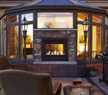 Twilight Modern Indoor Outdoor Gas Fireplace