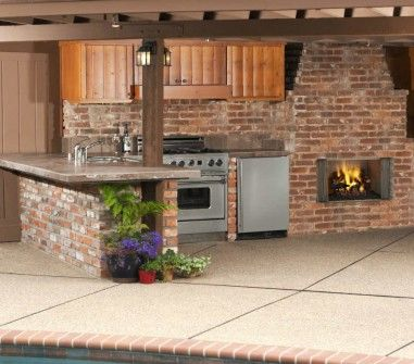 Villawood-42 Outdoor Wood Fireplace