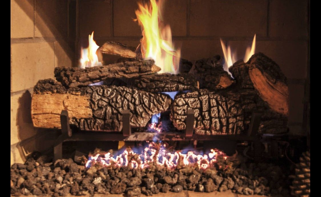Gas Fireplace gas fireplace logs : MANCHESTER OAK GAS LOGS | Cyprus Air Fireplaces VA, MD, DC