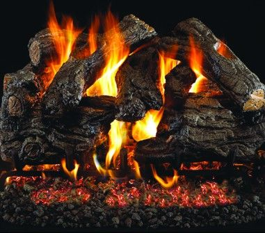 BURNT HERITAGE OAK GAS LOGS