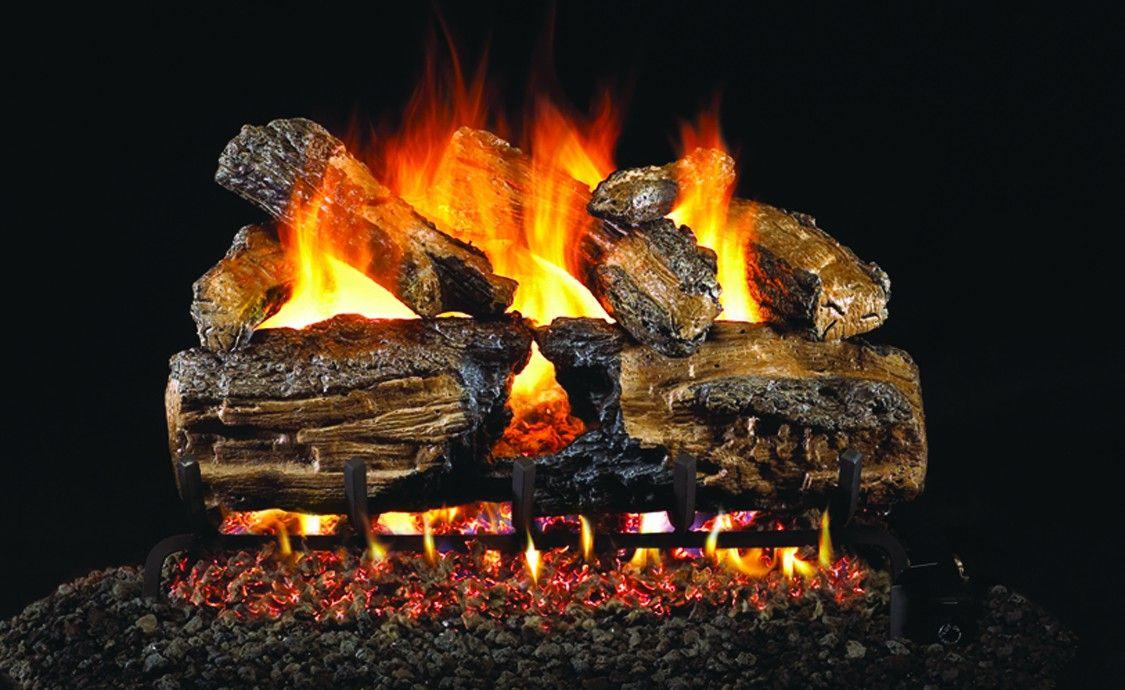 Burnt Split Oak Gas Logs Cyprus Air Fireplaces