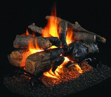 CHARRED AMERICAN OAK GAS LOGS