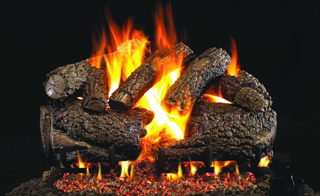 CHARRED FOREST OAK GAS LOGS