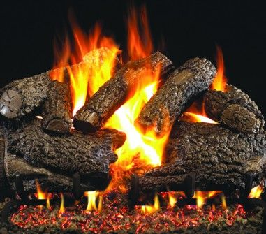 CHARRED FOREST OAK GAS LOGS