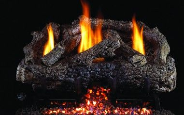 CHARRED FRONTIER OAK GAS LOGS