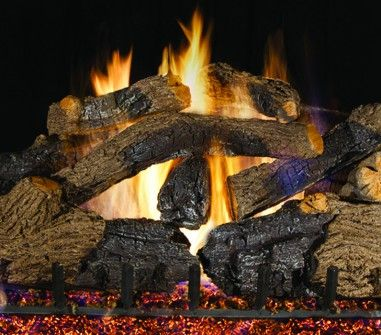 CHARRED GRIZZLY OAK GAS LOGS