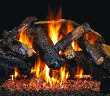 CHARRED MAJESTIC GAS LOGS