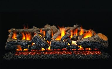 CHARRED MAJESTIC OAK GAS LOGS