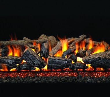 CHARRED MAJESTIC OAK GAS LOGS