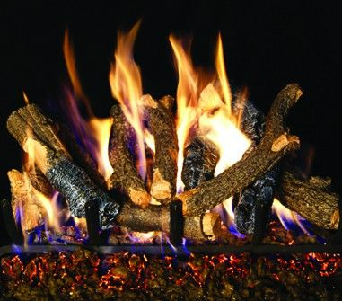 CHARRED OAK STACK GAS LOGS