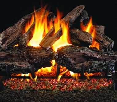 CHARRED RED OAK GAS LOGS