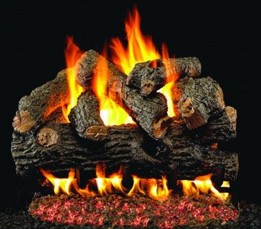 CHARRED ROYAL ENGLISH OAK GAS LOGS