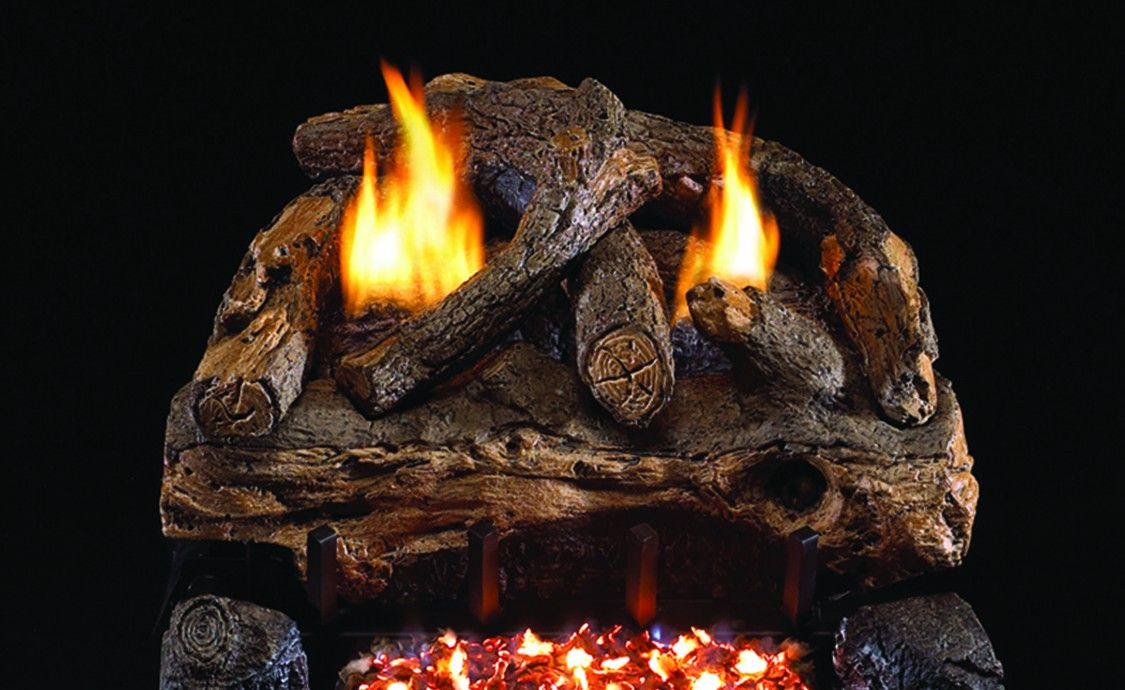 EVENING FIRE SPLIT GAS LOGS