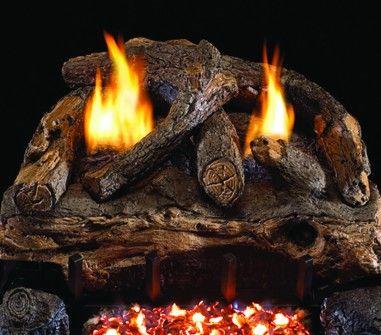 EVENING FIRE SPLIT GAS LOGS