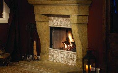 Valentina rustic gas fireplace