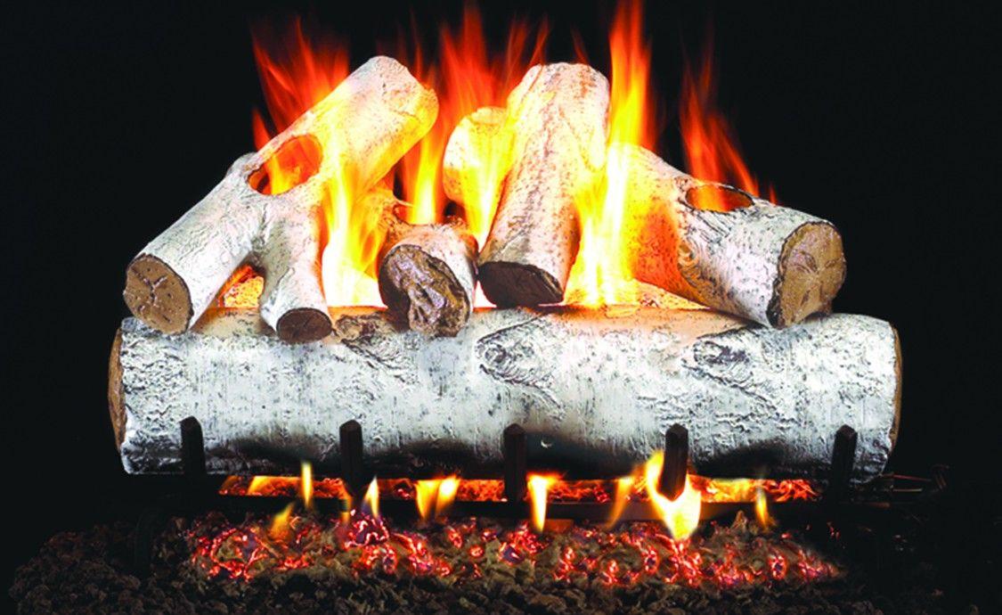 white birch gas logs